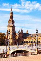Plaza de Espana with tower. Seville, Spain