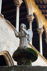 Angel statue at cloister of Pedralbes Monastery