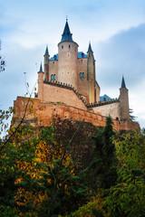 Autumn view of Castle of Segovia