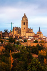 Autumn view of Segovia Cathedral