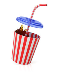 Cup with straw and splash