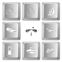 bicycle, yacht, car, road, airliner, fueling station, train, mot