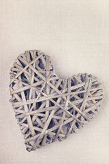 A handmade heart made from twigs