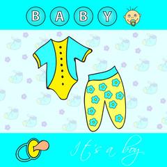 """"""" It's a boy """" icon set"""