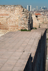 City walls of Istanbul, Theodosius wall and financial district