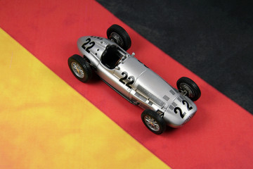 old race car over german flag