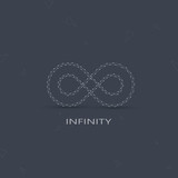 Geometric Limitless sign . The concept of eternity. Logo poster