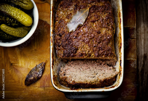 the French terrine and pickles - 80273605