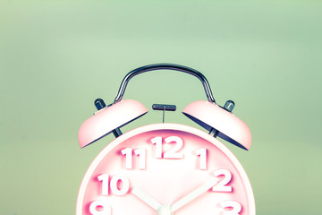 retro and vintage style of Old fashioned alarm clock