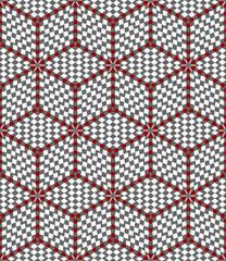 Hexagons and diamonds optical illusion pattern.