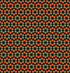 Hexagons and triangles pattern. Seamless geometric texture.