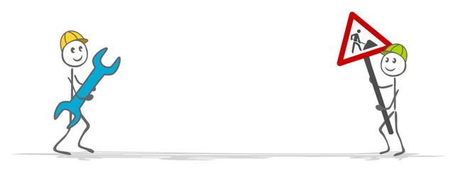 Strichmännchen Baustelle