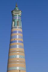minareto a khiva, uzbekistan