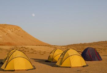 accampamento in turkmenista