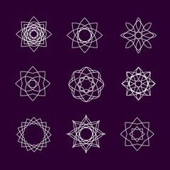 Set of spiro icons