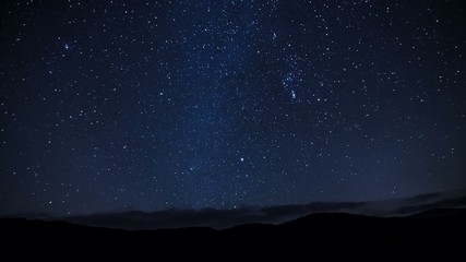 4k time lapse stars over the mountains