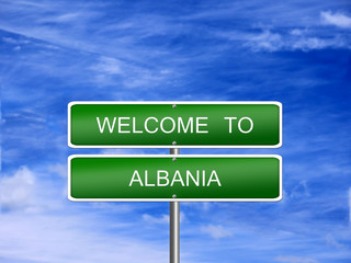 Albania Welcome Travel Sign