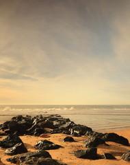 Rocks on the beach-Hossegor