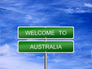Australia Welcome Travel Sign