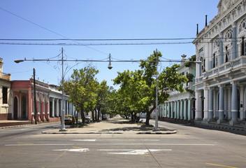 Paseo el Prado street in Cienfuegos. Cuba
