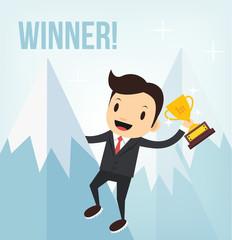 Vector business winner illustration
