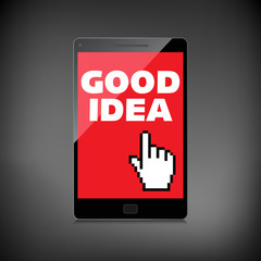 Good idea display on High-quality smartphone screen. Smile and p