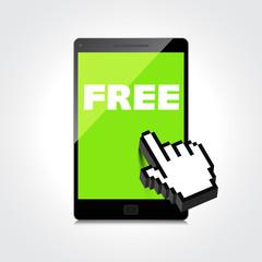 Word FREE display on High-quality smartphone screen.