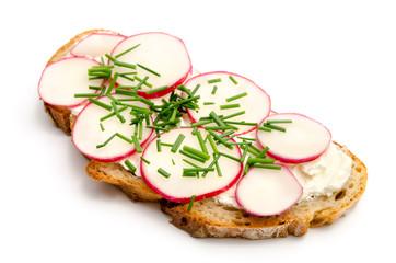 Gesundes belegtes Brot