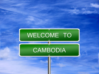 Cambodia Welcome Travel Sign