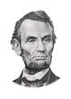canvas print picture - Abraham Lincoln