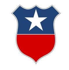 American flag shield illustration