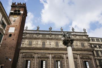 Saint Marco lion statue in Verona
