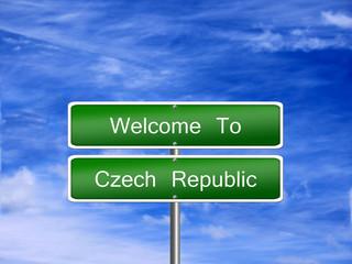 Czech Republic Travel Sign