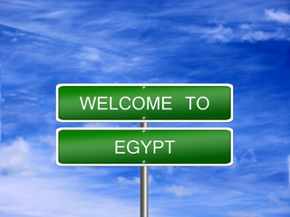 Egypt Welcome Travel Sign