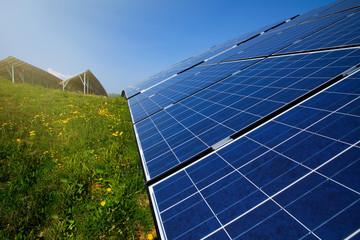 Solar panels in sunlight