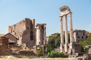 Old Roman Forum in Rome, Italy