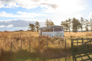Bus on the countryside