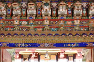 Polychrome wooden gateway. Norbulingka palace-Lhasa-Tibet. 1254