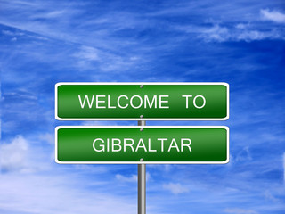 Gibraltar Welcome Travel Sign
