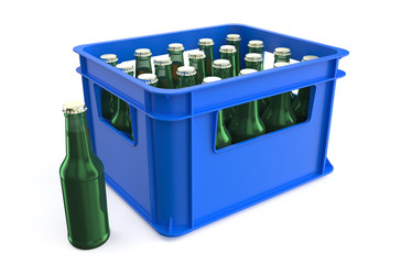 plastic box with bottles