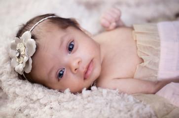 Newborn baby girl portrait