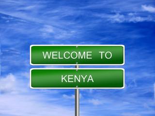 Kenya Welcome Travel Sign