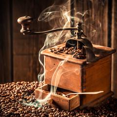 Aroma of roasted ground coffee