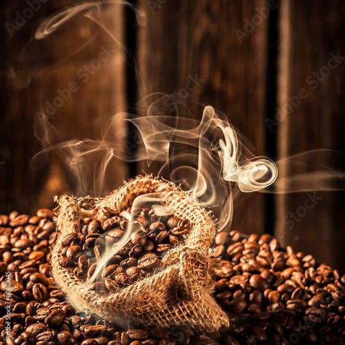 Coffee sack full of fragrance seeds