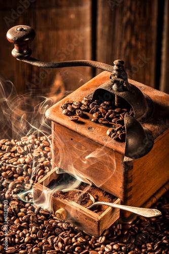 Taste of fresh coffee seeds