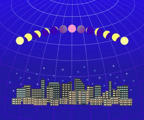 皆既月食 都市風景1