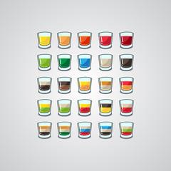 set of  shots