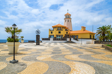 Lighthouse on coast of Madeira island, Portugal
