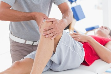 Man having knee massage