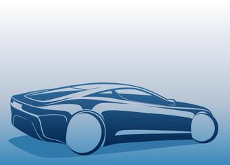 Mavi spor otomobil